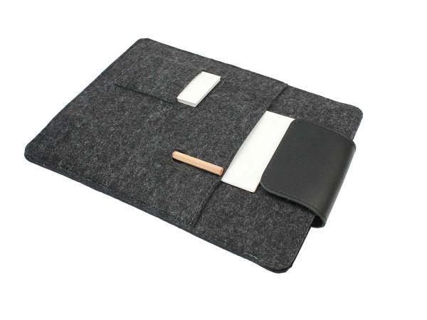 """Tablet-Tasche """"Multi"""" aus Wollfilz 25,7 x 19 cm, anthrazit"""