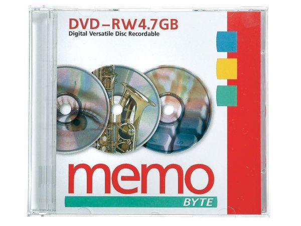 memo DVD-RW 4,7GB im Jewelcase, 4x