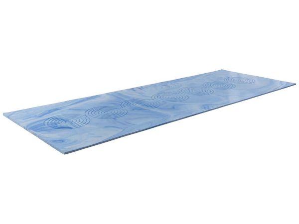 Yogamatte 67 x 200 x 1 cm blau mit Tragetasche