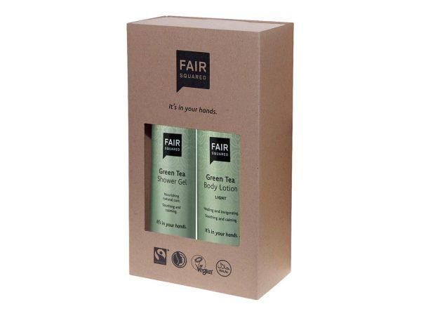 "Fair Squared Geschenkset ""Green Tea"" Bodylotion 250 ml und Duschgel 250 ml"