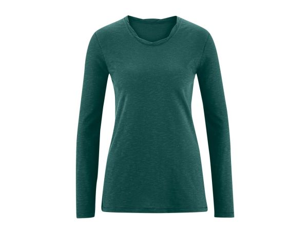 "Bio-Damen-Langarmshirt ""Bella"" dunkelgrün, Gr. M"