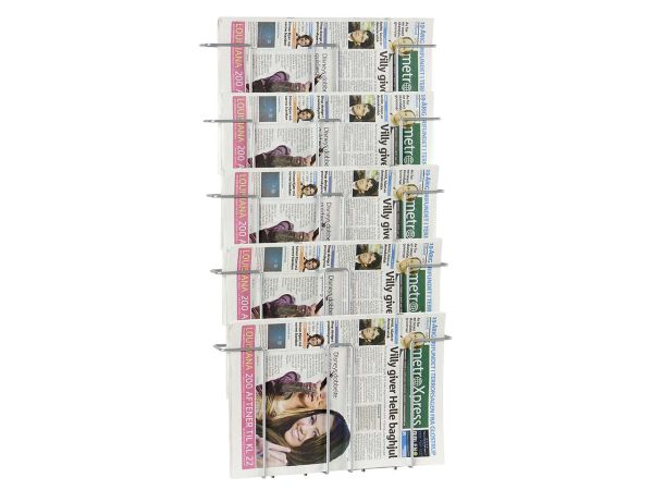 "Zeitungshalter ""Gent"" DIN A3 5 Fächer"