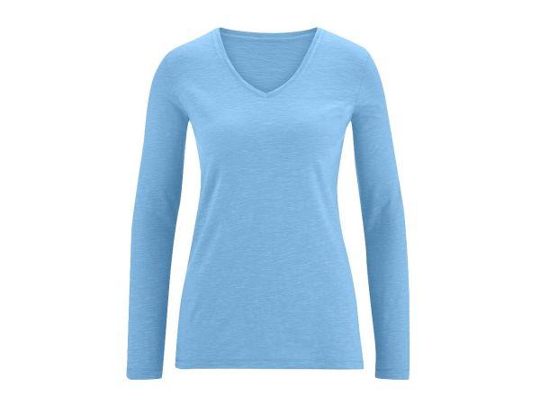 "Bio-Damen-Langarmshirt ""Dora"" mondblau, Gr. XS"