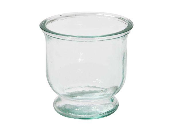 Windlicht aus Recyclingglas 9cm