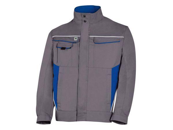 Unisex-Arbeitsjacke grau/blau, Gr. 106