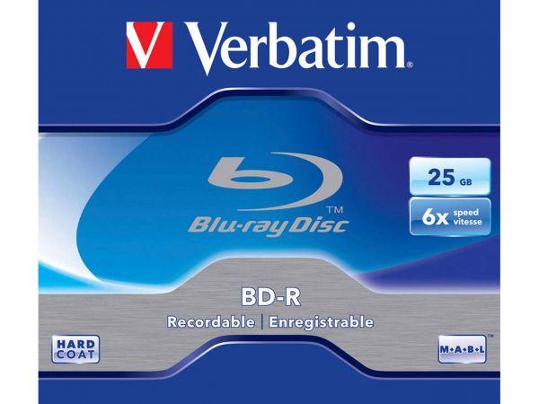 Verbatim Blu-ray Disc BD-R, 25 GB, 1-6x