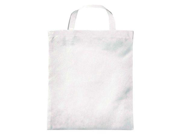PP-Taschen, weiß 38x42 cm mit zwei kurzen Henkeln