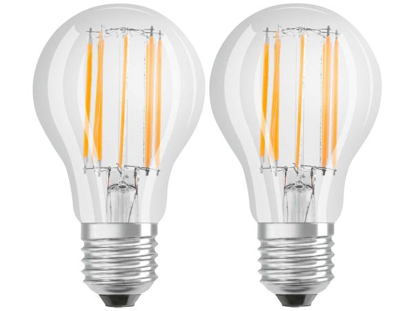 "2er-Pack OSRAM LED-Lampe ""Star Filament"" CLA 100, 11 W, E27, 840"