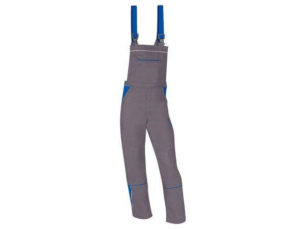 Unisex-Latzhose grau/blau, Gr. 90