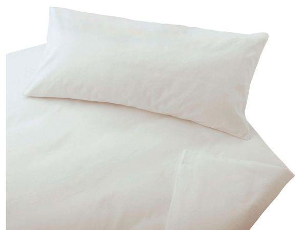 """Cotonea Bettwäsche """"Edelbiber"""" aus Bio-Baumwolle 80 x 80 cm/135 x 200 cm weiß"""