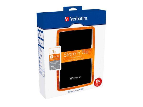 "Verbatim ""Store'n'Go"" 6,35 cm (2,5 Zoll) Festpatte 1 TB, USB 3.0 schwarz"
