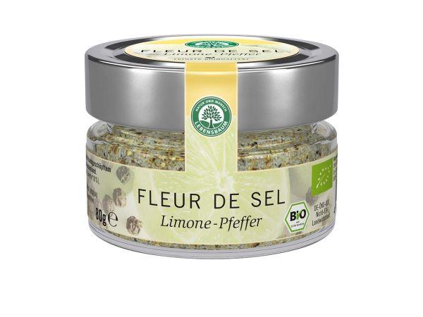 "Lebensbaum Meersalz ""Fleur de Sel"" Limone-Pfeffer 80 g"