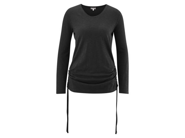 "Bio-Damen-Langarmshirt ""Fanna"" schwarz, Gr. XL"