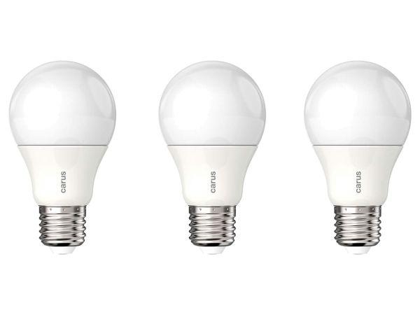 """carus LED-Lampe """"Classic Dim 600"""" 8,6 W, E27, 600 lm, 2700 K, matt, 3er-Pack"""