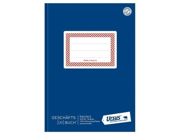Ursus Notizbuch Hardcover DIN A5, 96 Blatt, 150 g/m², kariert