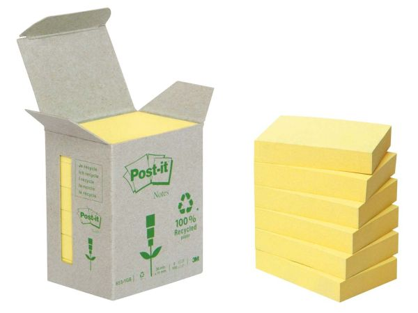 "3M Haftnotizen Kleinpackungen ""Post-it Tower"" gelb, 38 x 51 mm"