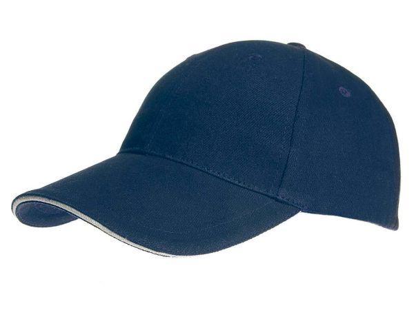 memo Baumwoll-Cap blau mit Metallverschluß aus Bio-Baumwolle mit Fairtrade-Siegel
