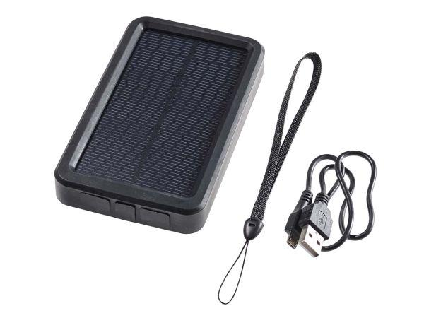 "Solar-Ladegerät ""LonglifeGreen"" mit 3000 mAh LiFEPO4-Akku, schwarz"