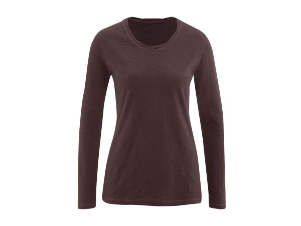 "Bio-Damen-Langarmshirt ""Bella"" dunkelbraun, 155 g/m², Gr. XL"