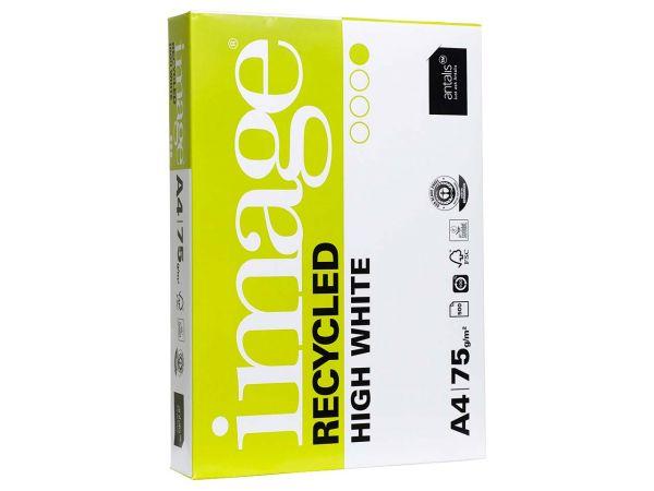 """500 Blatt Recycling Kopierpapier """"Image Recycled High White"""" DIN A4, 75 g/m²"""