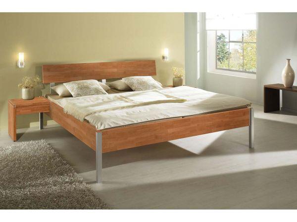 """Bett """"Varo"""" Buche massiv mit Alufuß, 90 x 200 cm"""