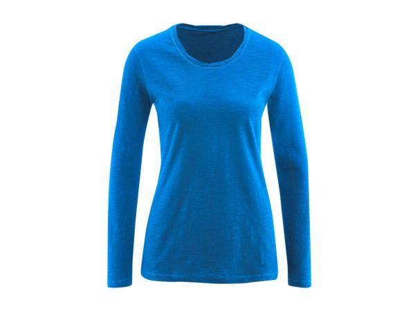 "Bio-Damen-Langarmshirt ""Bella"" royalblau, 155 g/m², Gr. XL"