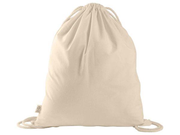 memo Bio-Baumwoll-Rucksack, mit Fairtrade-Siegel, natur , groß, 38 x 46 cm