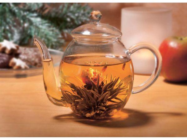 Bio Erblüh-Tee Geschenkset mit Glaskanne