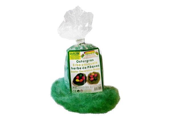 ÖkoNORM Ostergras aus pflanzengefärbter Wolle
