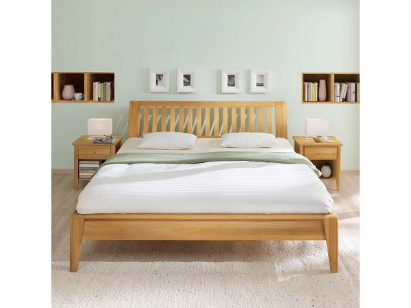 massives bettgestell ametrin inkl kopfteil ko. Black Bedroom Furniture Sets. Home Design Ideas