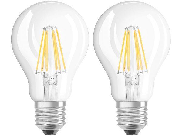 "2er-Pack OSRAM LED-Lampe ""Star Filament"" CLA 60, 7W, E27, 806 lm, klar"