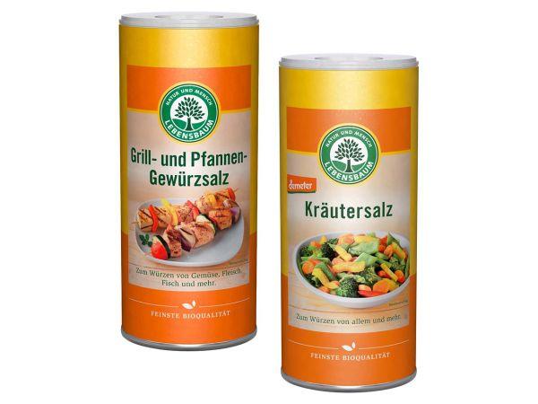 Lebensbaum Kräutersalz + Grill- und Pfannen-Gewürzsalz