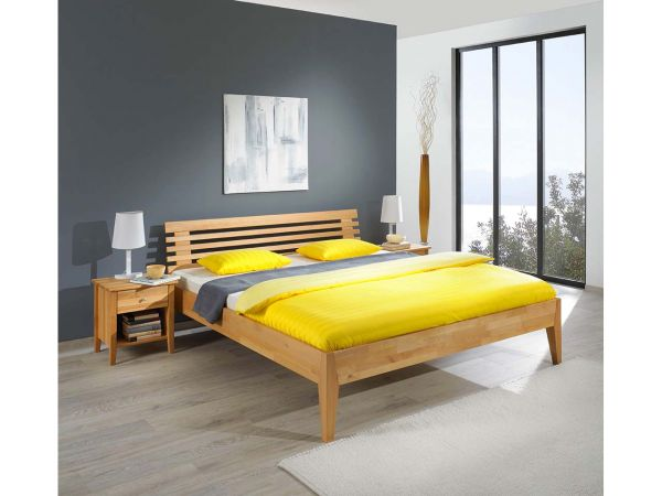 massives bettgestell citrin inkl kopfteil ko fair einkaufen. Black Bedroom Furniture Sets. Home Design Ideas