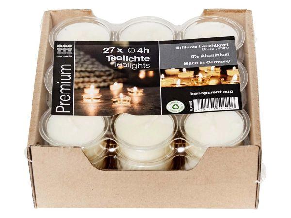 Cup Candle 27 Teelichter aus Sojawachs, ca. 4 h