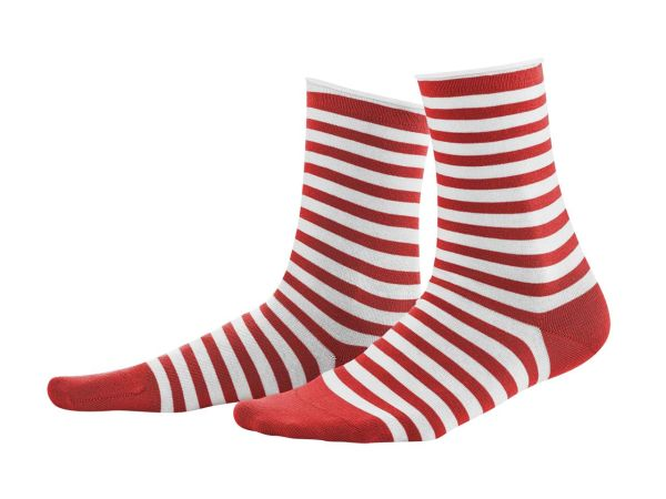 "2er-Pack Bio-Damen-Socken ""Alexis"" poppy red/weiß, Gr. 35-38"