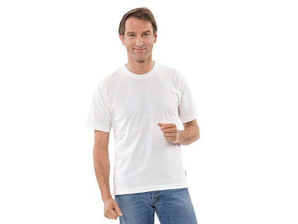 T-Shirt Gr. S  ca. 145g/m² weiß aus Bio-Baumwolle mit Fairtrade-Siegel