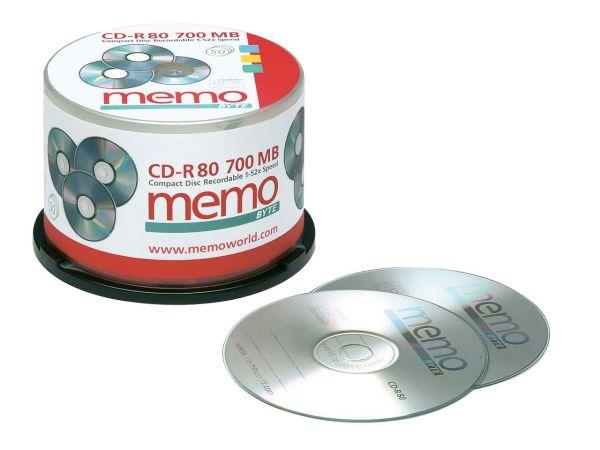 50 memo CD-R80 700MB in Spindel