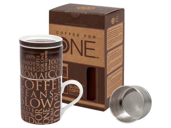 "Könitz ""Coffee for One"" 100 % on Dark Brown"