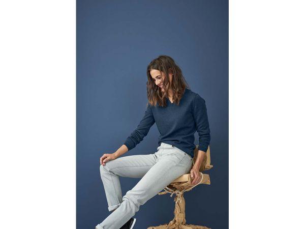 "Bio-Damen-Jeans ""Donna"" grau, Gr. 27R"