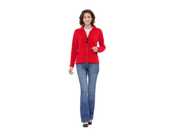 "memo Damen Fleece-Jacke ""Nature"" rot Gr. L aus Bio-Baumwolle mit Fairtrade Siegel"
