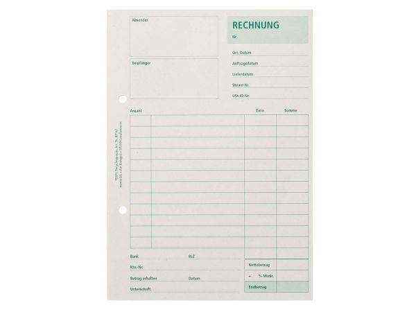 memo Formularblock Rechnung A5, 50 Blatt