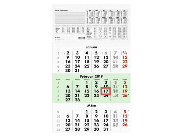Zettler Dreimonatskalender 2019
