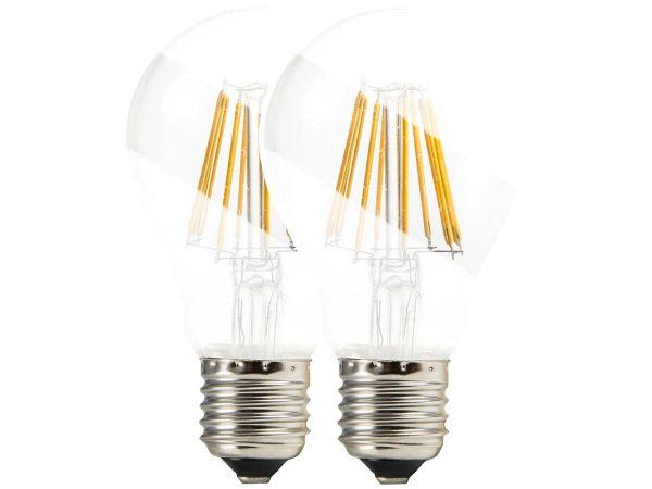 """2 BioLicht LED-Lampen """"Pure-Z-RETRO"""", E27, 8,2 W, 930 lm, 2700 K, matt"""