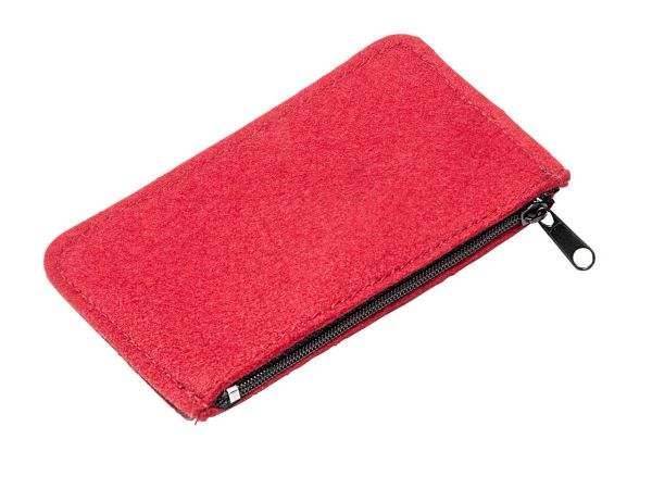 """Schlüsseltasche aus Wollfilz """"Key Zip"""" 12,5x7cm rot"""